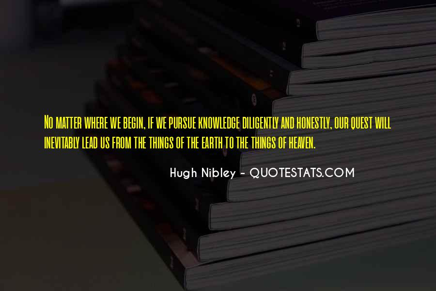 Quotes About Quest For Knowledge #712087