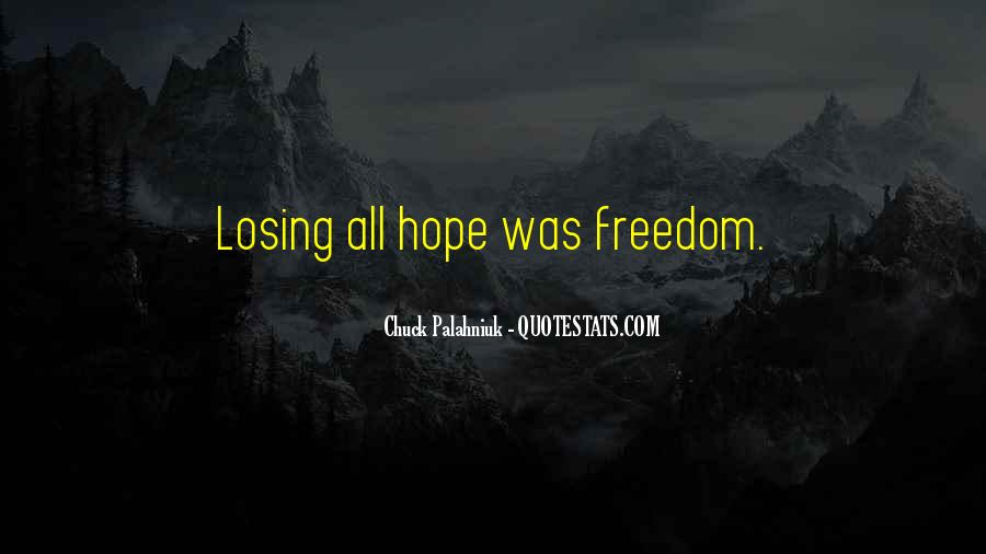 Quotes About Losing Hope In Someone #819804