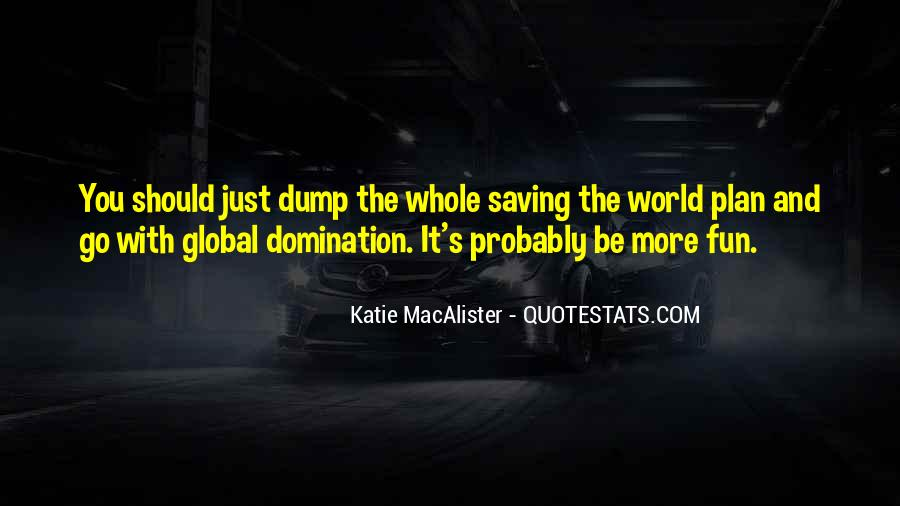 Quotes About Saving World #28422