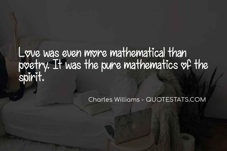 Quotes About Mathematics And Poetry #1360726