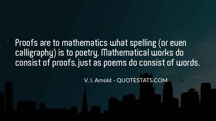 Quotes About Mathematics And Poetry #1436324