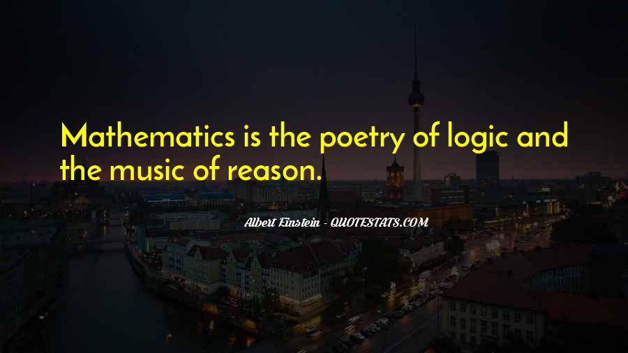 Quotes About Mathematics And Poetry #1490511