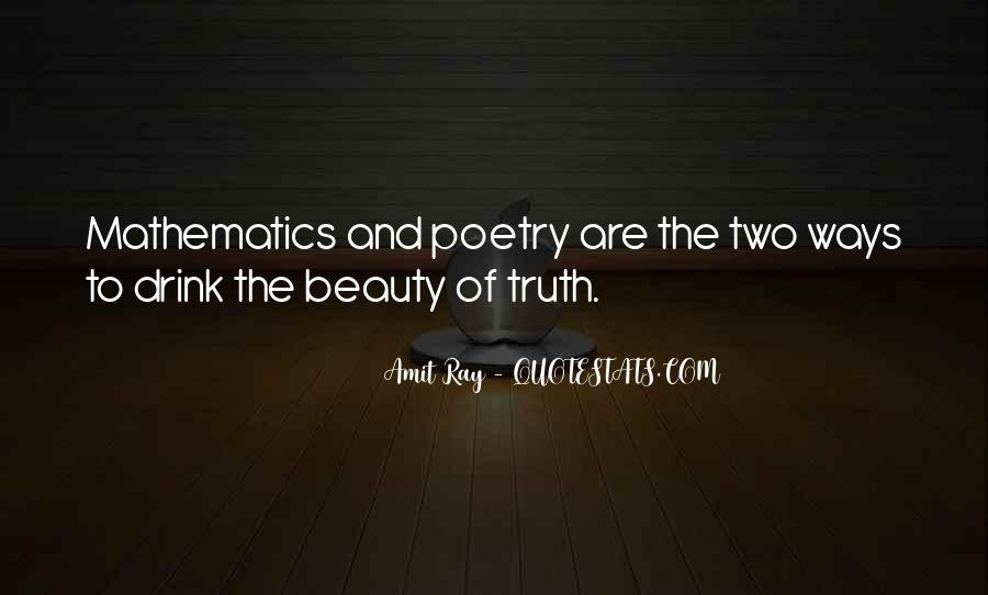 Quotes About Mathematics And Poetry #160916