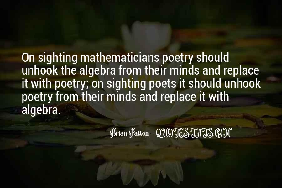 Quotes About Mathematics And Poetry #174184