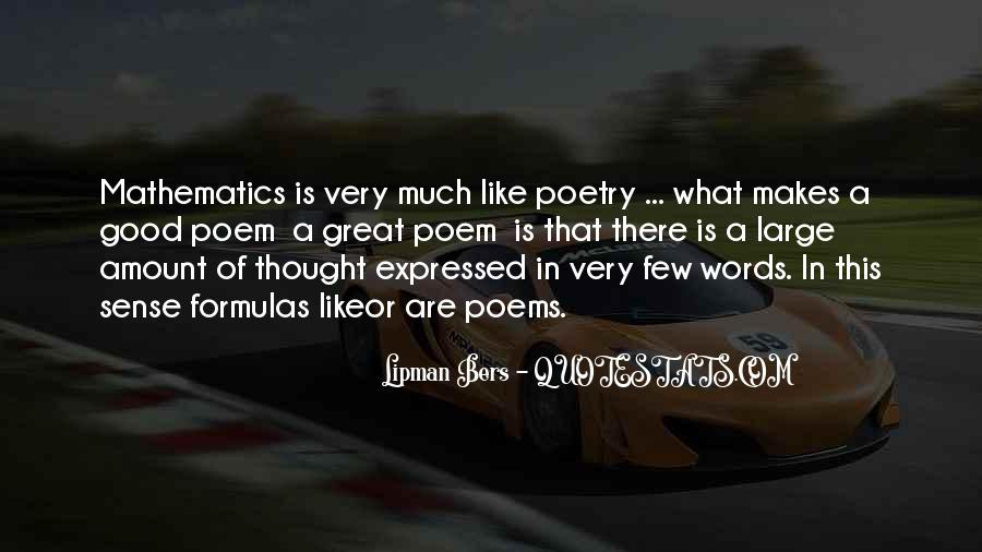 Quotes About Mathematics And Poetry #1784864