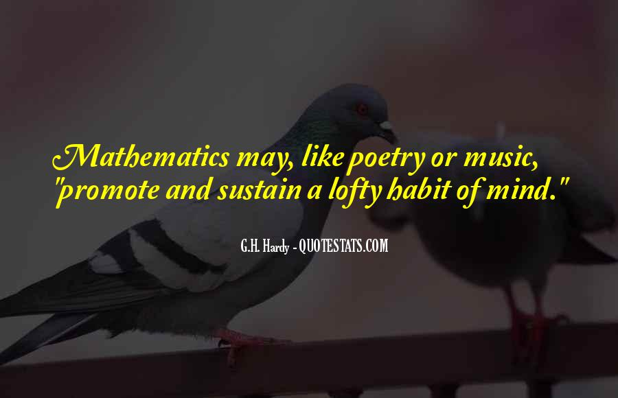 Quotes About Mathematics And Poetry #990775