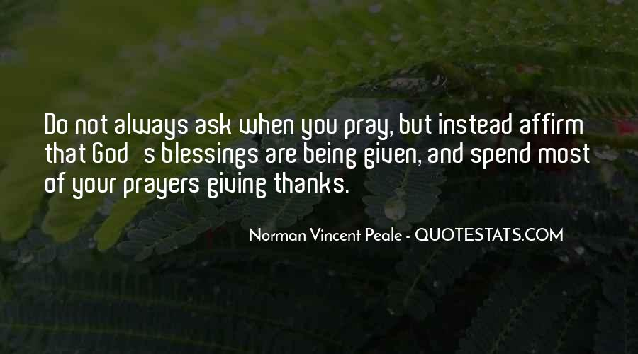 Quotes About Blessings From God To Thanks #1084284