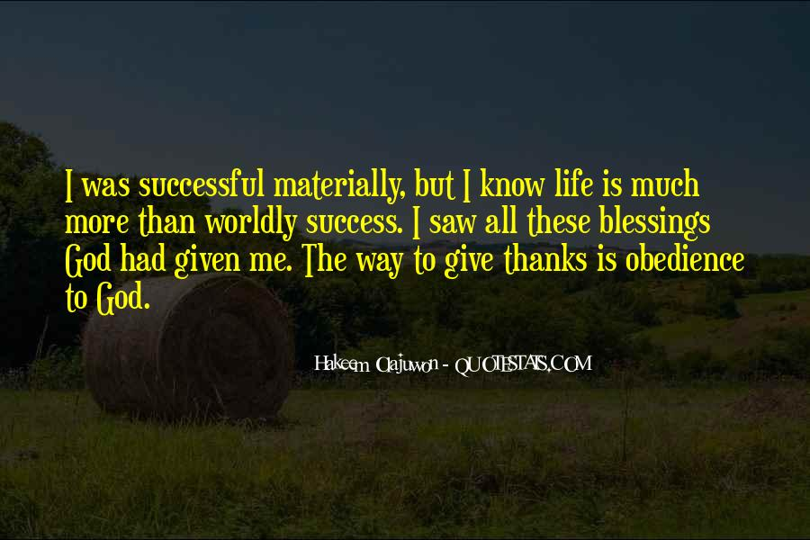 Quotes About Blessings From God To Thanks #1682983