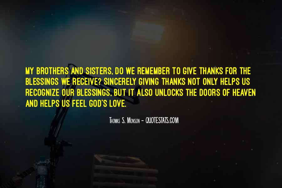 Quotes About Blessings From God To Thanks #836665