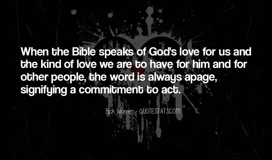 Quotes About Love Of God Bible #342208