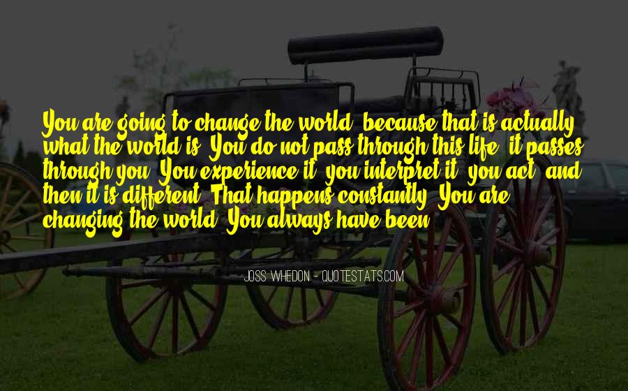 Quotes About Experience And Change #320841