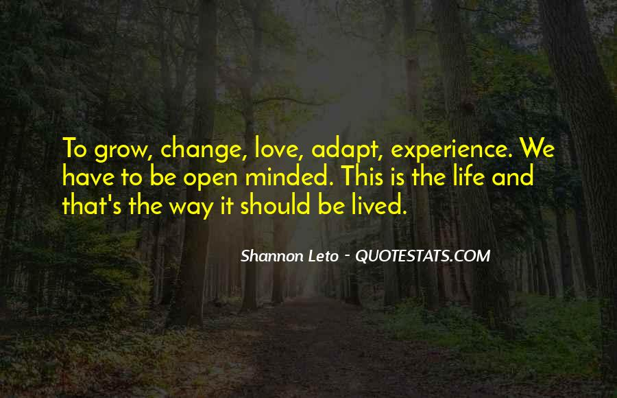 Quotes About Experience And Change #548931