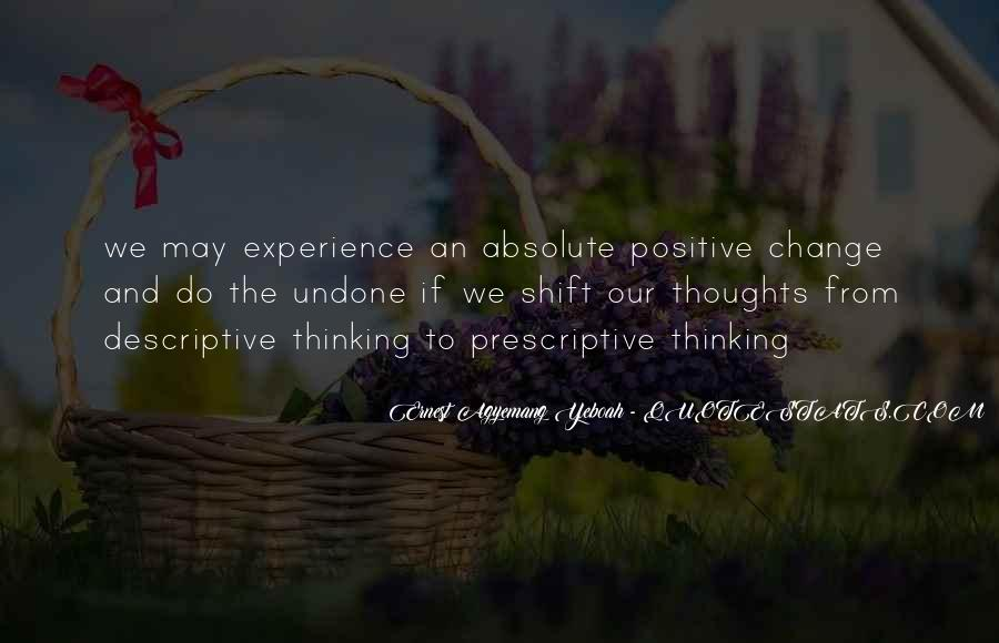 Quotes About Experience And Change #608786
