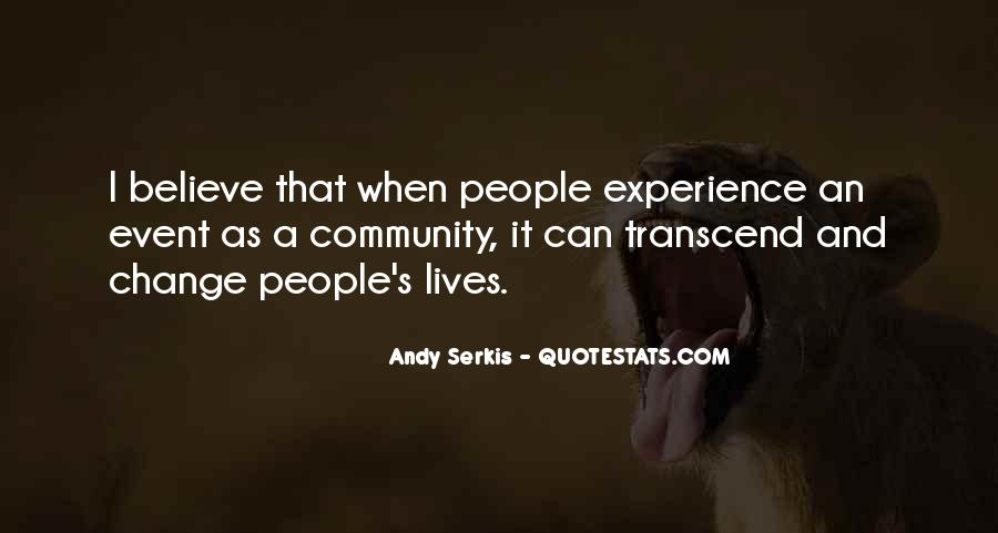 Quotes About Experience And Change #960016