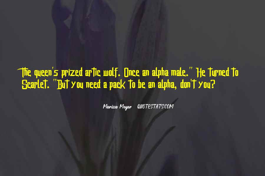 Quotes About Alpha Wolf #528263