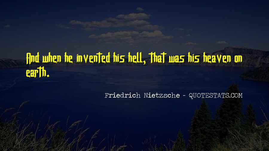 Quotes About Heaven And Hell #214580