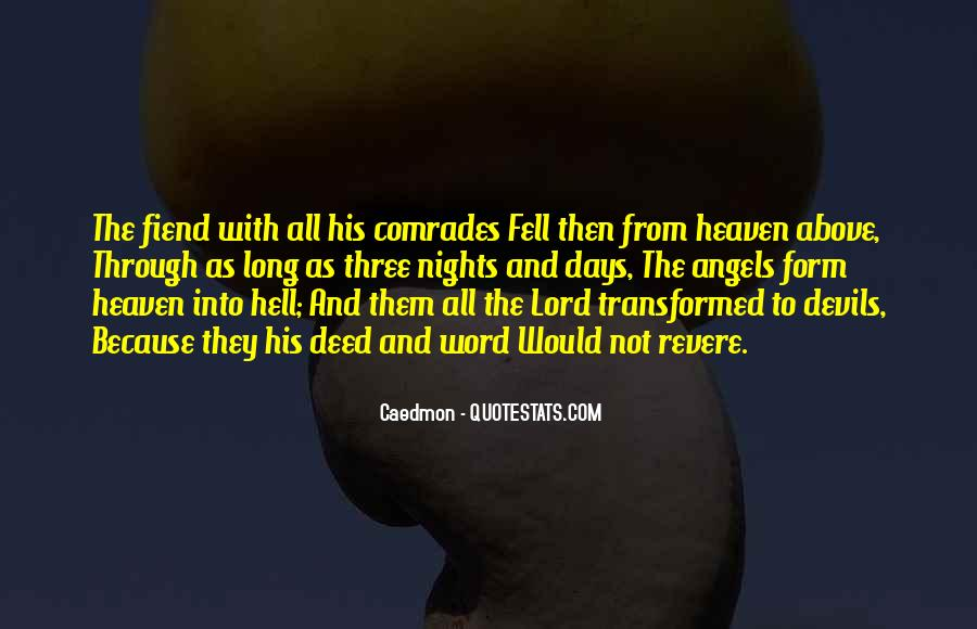 Quotes About Heaven And Hell #22854
