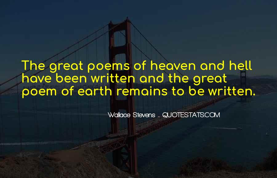 Quotes About Heaven And Hell #254892