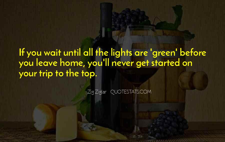 Quotes About Green Lights #1293232