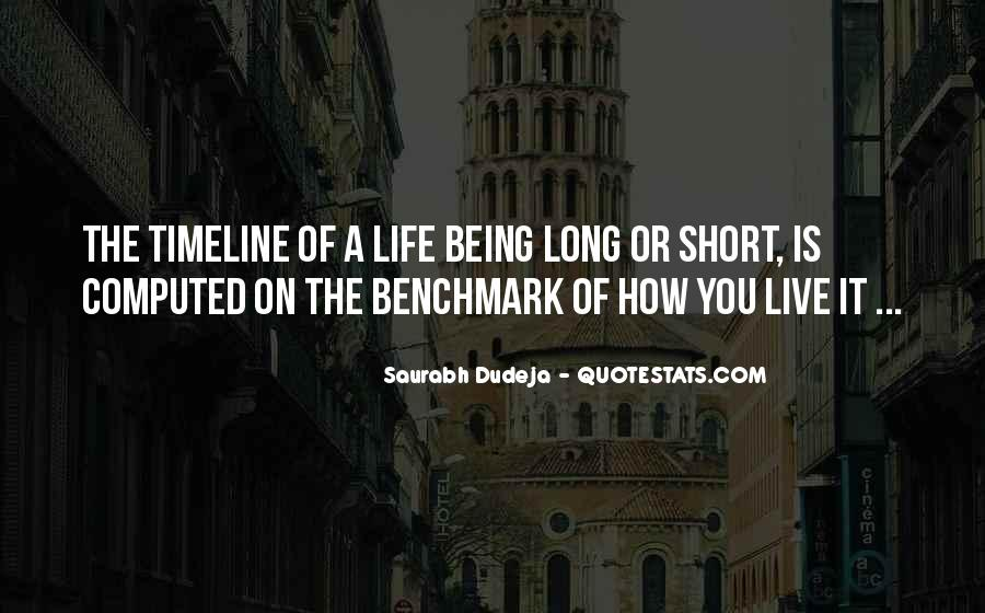 Quotes About Life Timeline #320047