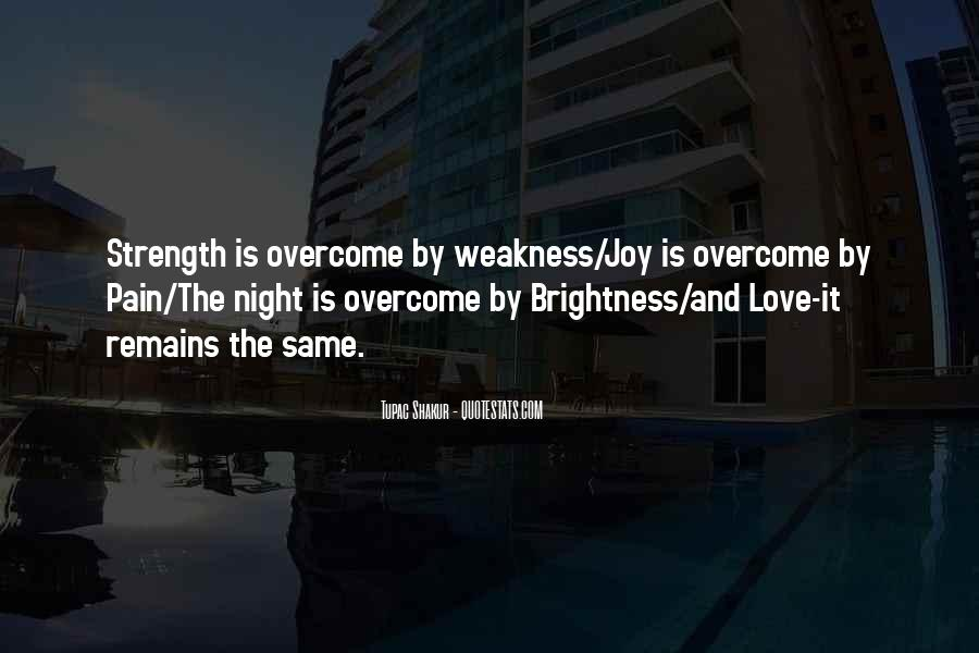 Quotes About Weakness And Love #481187