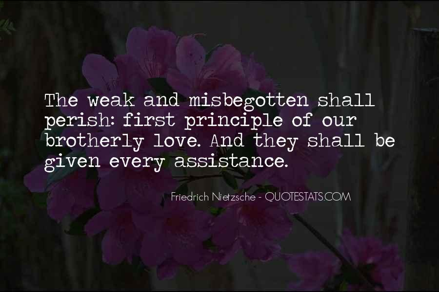 Quotes About Weakness And Love #98839
