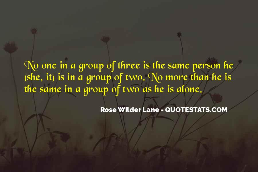 Quotes About Groups Of Three #1013325