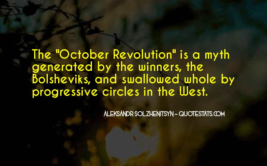 Quotes About October Revolution #382700