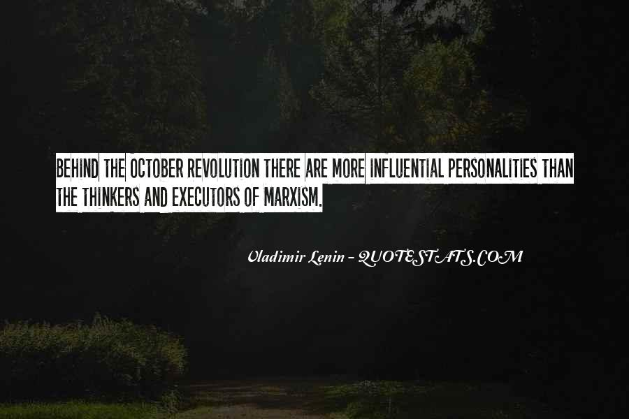 Quotes About October Revolution #809819