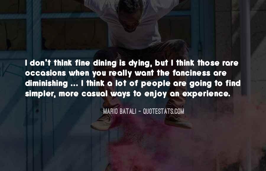 Quotes About Dining #195845