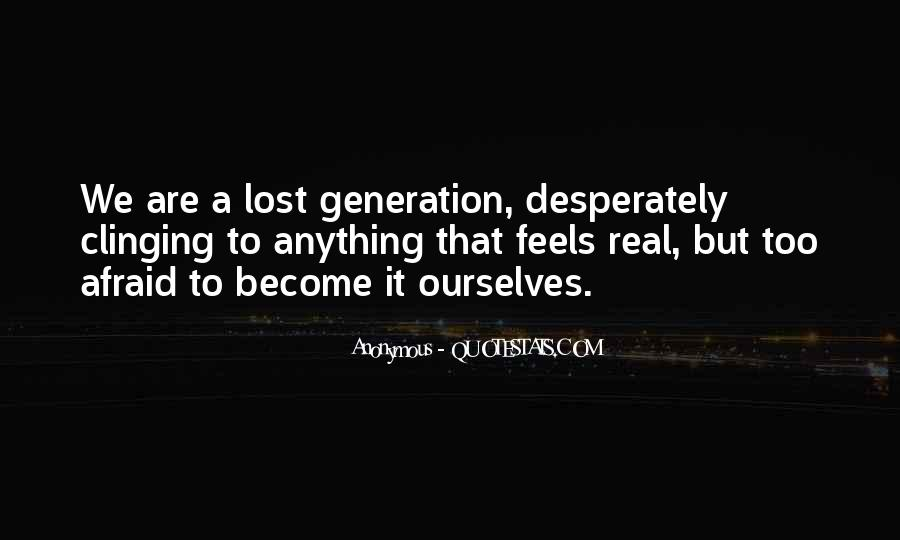 Quotes About Lost Generation #1412989