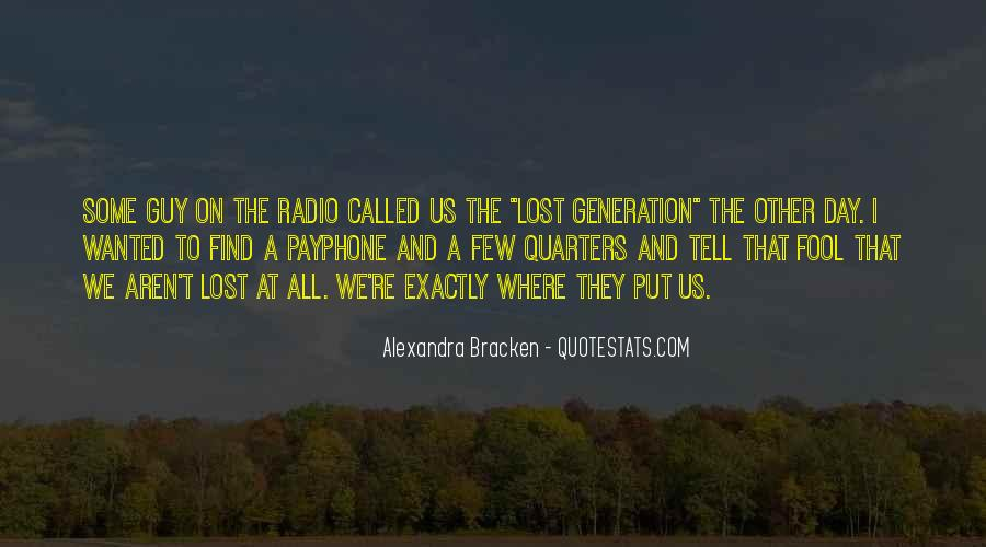 Quotes About Lost Generation #1515370