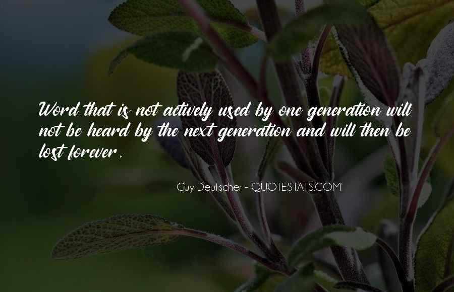 Quotes About Lost Generation #1767113