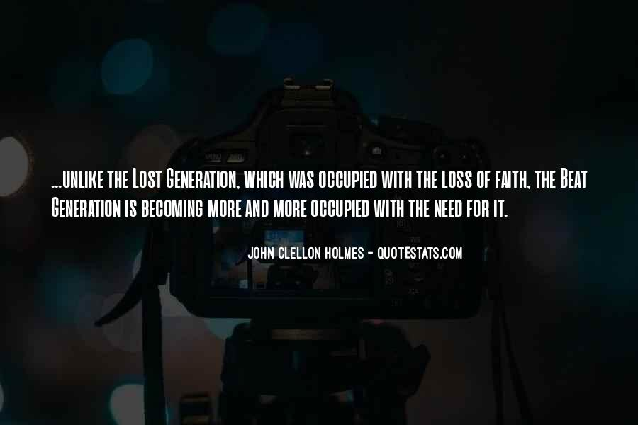 Quotes About Lost Generation #1842255