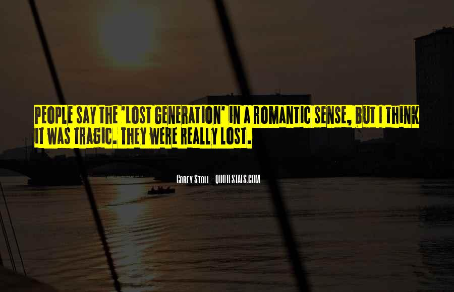 Quotes About Lost Generation #239432