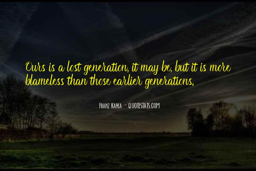 Quotes About Lost Generation #549474