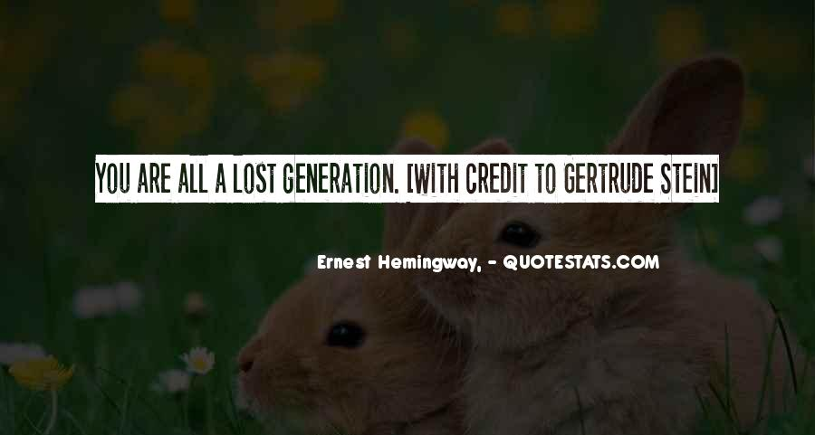 Quotes About Lost Generation #890259