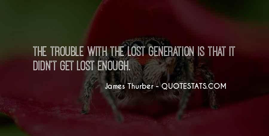 Quotes About Lost Generation #931721