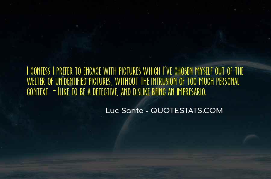 Quotes About Sante #1055113