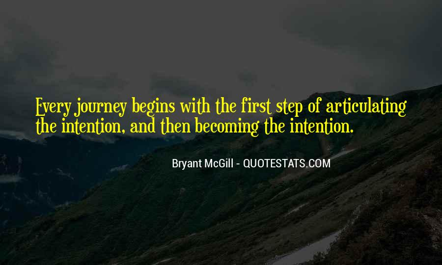 Quotes About Journey Begins #1228407
