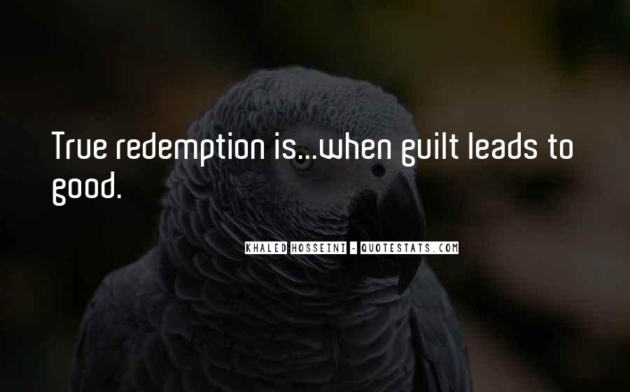 Quotes About Guilt And Redemption #610112