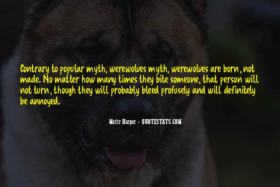Quotes About Werewolves #327141