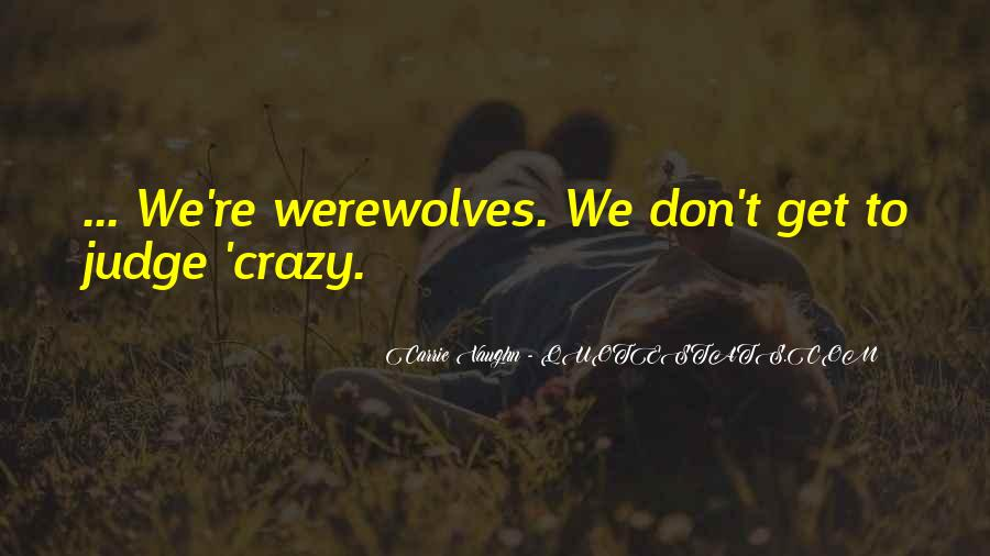 Quotes About Werewolves #86931