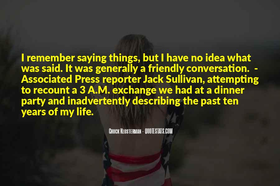 Quotes About The Past Years #63208