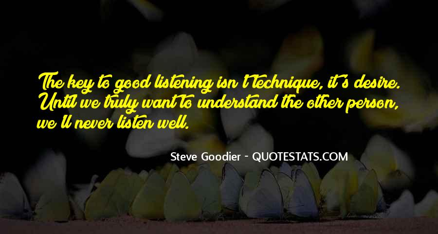Quotes About Listening Skills #27895
