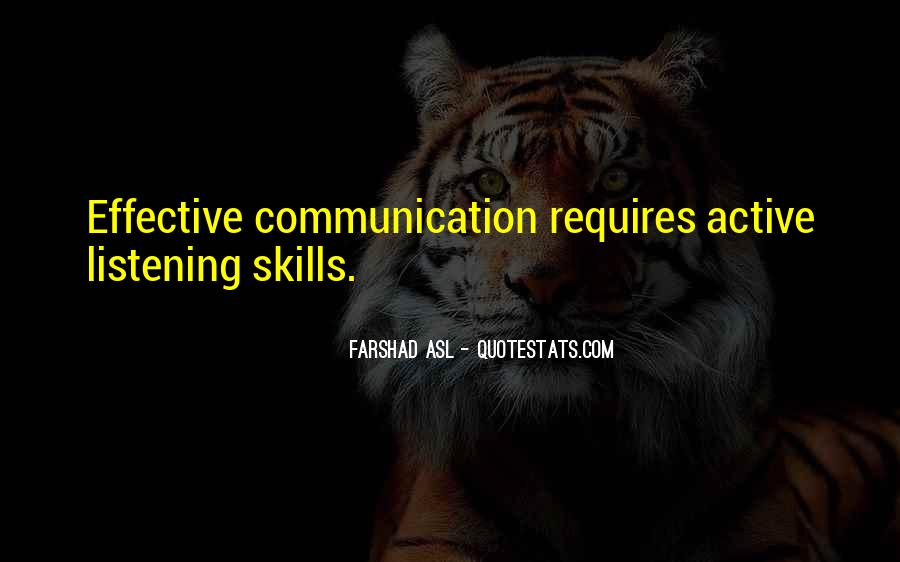 Quotes About Listening Skills #318311