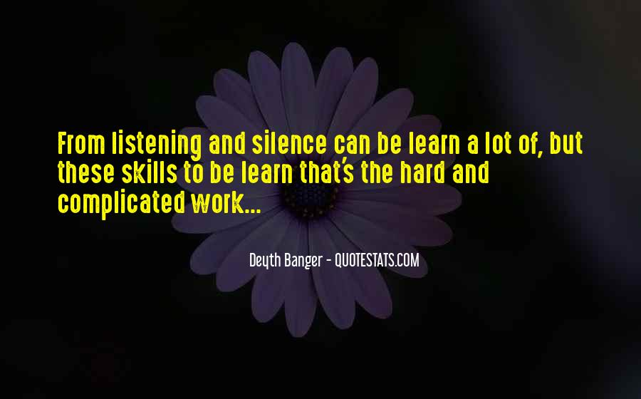 Quotes About Listening Skills #493171