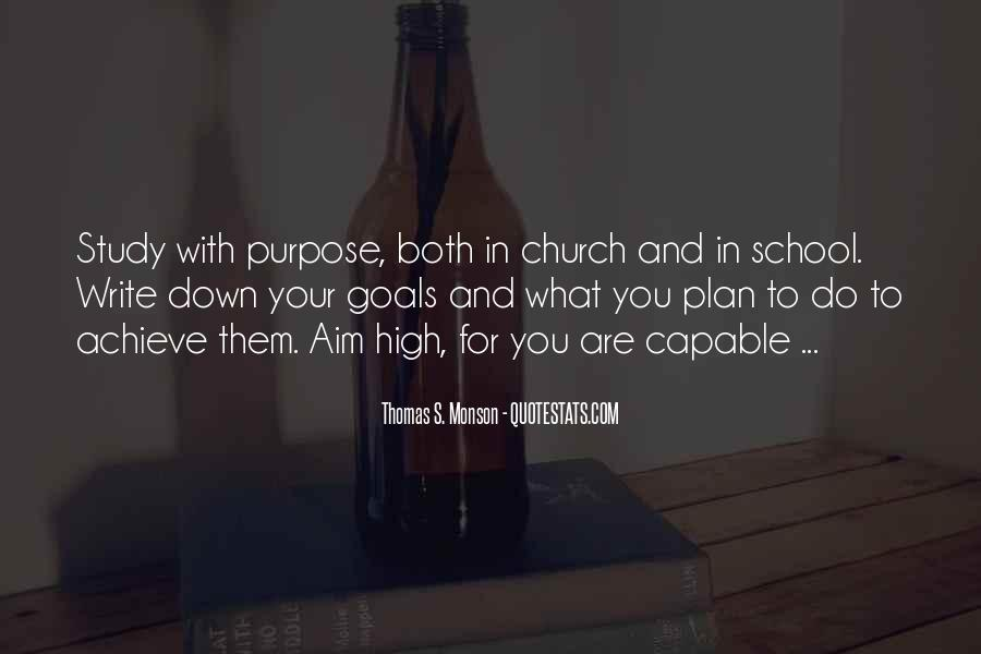 Quotes About Goals In School #899574