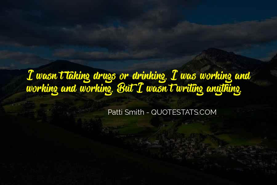 Quotes About Drinking And Writing #1529658