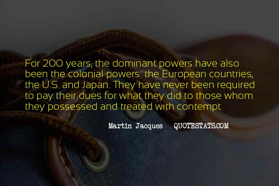 Quotes About Colonial Powers #1766557
